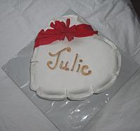 Heart Shaped Fondant Covered Cake View 2