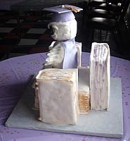 College Graduation Owl And Books Cake back view