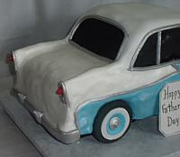 1956 Chevy Bel Air Car Cake back view