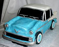 1956 Chevy Bel Air Car Cake front view