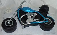 Blue, Silver, Black Motorcycle Cake view 2