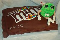 Bag of M and M Candies Cake