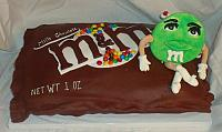 Bag of M&M Candies Cake view 2