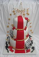 Hollywood Red Carpet Movie Theme Fondant Cake
