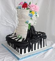 Bridal Shower Feminine Bodice Black White Cake