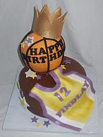 Basketball, Sports Jersey Fondant Shirt with Stars on Fondant Cake