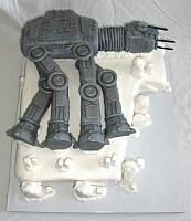 Star Wars All Terrain Armored Transport (AT-AT)Fondant Groom's Cake