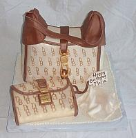 Dooney & Bourke Designer Purse Fondant Cake