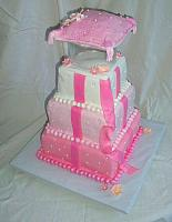 Sweet Sixteen Pink Tiered Cake with Edible Pillow