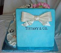 Tiffany Present Fondant Covered Styrofoam  Lid