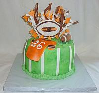 Football Theme Fondant Cake of Cleveland Browns