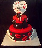 Betty Boop Birthday Celebration Fondant Cake