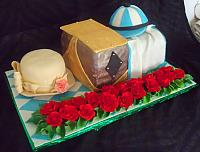 Kentucky Derby Horse Race Theme Fondant Cake main view
