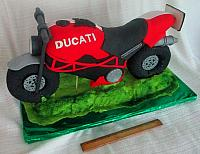 Three Dimensional or 3D Motorcycle Cake (Two Feet Long) - Made Out of Rice Krispy Treats