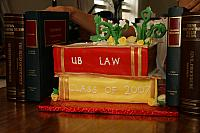 Back view of Graduation Cake for Law School Grad