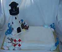 Lighthouse Cake as a Sheetcake