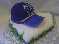 Yankees BaseBall Cap On Home Plate view 2