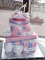 Bridal Shower Cake as Stacked Presents, Pillow, Shoe