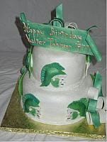 Walter Johnson Highschool class of 1977 green and white Spartan Cake