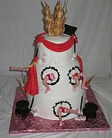 Cabaret Cake with Can-can Girls or Dancing Girls