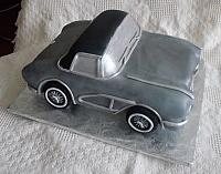 1962 Corvette Sports Car Cake Top