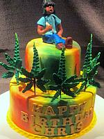 Hippie Marijuana Theme Cake