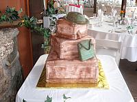 Indiana Jones Wedding Cake view with reception area