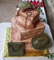 Indiana Jones Wedding Cake top view