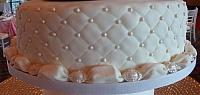 Bottom Tier Quilted with Jeweled Pillow Border