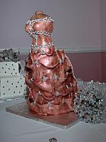 Bridal Dress Cake Close Up