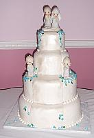 Precious Moments Wedding Cake with sugarpaste flowers