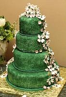 Green Wedding Cake Front view