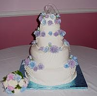 Gluten Free Wedding Cake - top tier was gluten free for diet restrictions